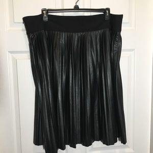 Melissa McCarthy Seven 7 Faux Leather Skirt 3X